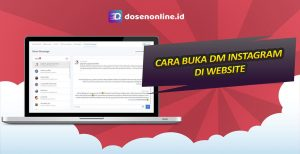 Cara Membuka DM Instagram di Web Browser HP, PC atau Laptop