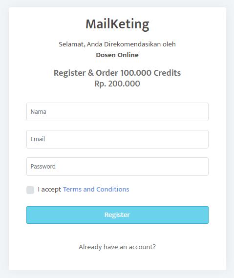Cara Daftar Mailketing